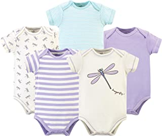 Touched by Nature Baby Organic Bodysuits 5pk, Elephant