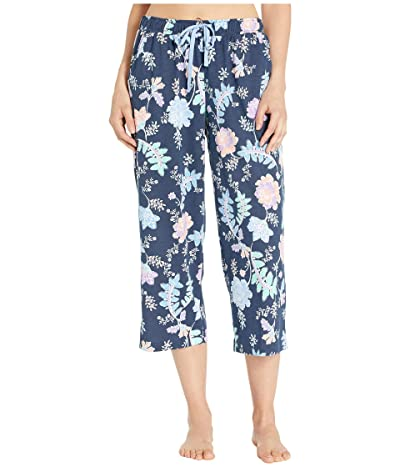 Karen Neuburger Sunday In Sorrento Capris Pants (Floral/Deep Navy) Women