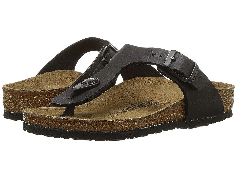 Birkenstock Kids Gizeh (Little Kid/Big Kid) (Black Birko-Flor) Girls Shoes