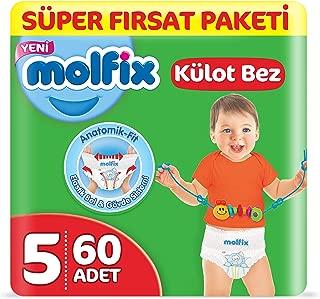 Molfix 3D Külot Bez Junior (5) Beden, Super Fırsat Paketi 60 Adet
