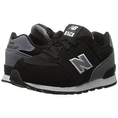 New Balance Kids KL574v1 Reflective (Infant/Toddler) (Black/Grey) Boys Shoes