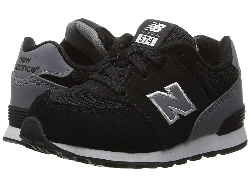 New Balance Kids KL574v1 Reflective (Infant/Toddler) (Black/Grey) Boys Shoes