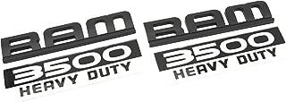 2 NEW CUSTOM MATTE BLACK AND WHITE CUMMINS 3500 DOOR BADGES EMBLEMS SET 3500HD