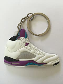 4eb84d28040f Air Jordan 5 White Grapes Sneakers Shoes Keychain Keyring