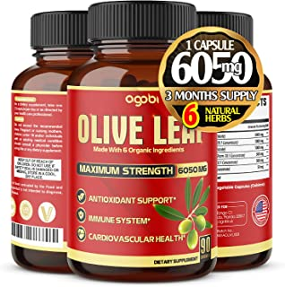 Sponsored Ad - Natural Olive Leaf Capsules 6050 mg with Garcinia Cambogia & Turmeric Curcumin - Immune Support - Antioxida...