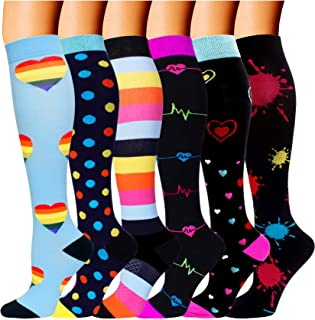 Best 6 Pairs Best Medical Compression Socks Women Men 20-30 mmHg Knee High Stockings Review