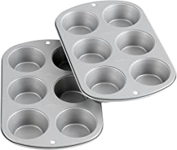 Wilton 2109-6832 Recipe Right Non-Stick 6-Cup Standard Muffin Pan, Multipack of 2