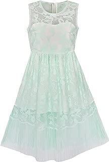 Sunny Fashion Girls Dress White Lace Tassel Hem Princess Party Size 4-8 Years