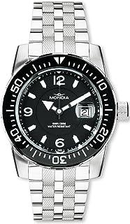 Mondia Wave Mens Analog Quartz Watch with Stainless Steel Bracelet 1-690-1
