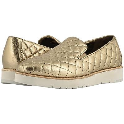 Johnston & Murphy Portia (Gold Italian Metallic Glove Leather) Women