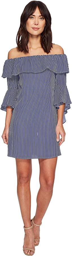 CeCe - Celia Off the Shoulder Stripe Dress