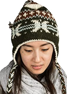 Warm Soft Winter Wool Hat Cap Fleeced Inside Hand Knit Snow Cold Women Fashion