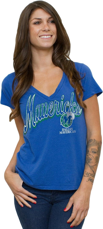 NBA Dallas Mavericks Women's Vintage Solid V-Neck T Max 70% OFF Short Sleeve Department store