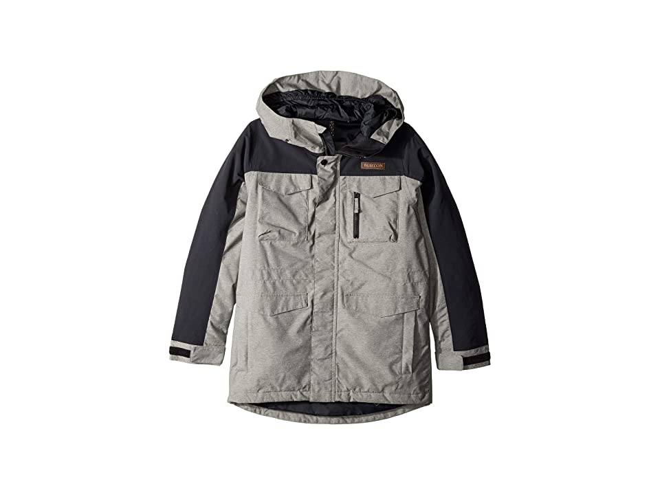 Burton Kids Covert Jacket (Little Kids/Big Kids) (Bog Heather/True Black) Boy