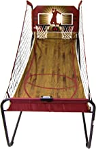Harvil Double-Swish Electronic Basketball Game with 8 Game Options, Six 7-Inch Basketballs, 2 Steel Rims and Inflation Pump
