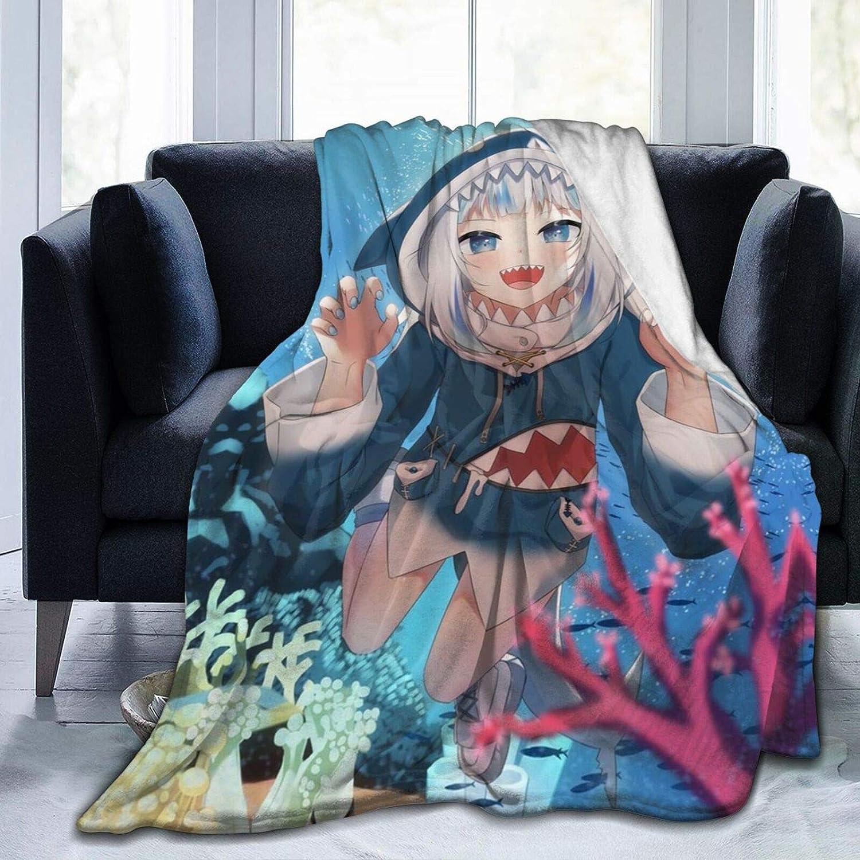 新作 Gawr-Gura-Manta Ultra 往復送料無料 Soft Micro Conditioner Fleece Air Blanket
