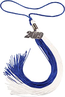 GradPlaza Graduation Tassel with Silver or Gold 2019 Year Charm Double Color