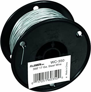 Fi-Shock 350-Feet, 17 Gauge Spool Galvanized Steel Wire, WC-350