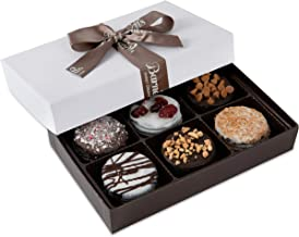 Barnett's Chocolate Cookies Favors Gift Box Sampler, Gourmet Christmas Holiday Corporate Food Gifts, Mothers & Fathers Day, Thanksgiving, Birthday or Get Well Care Package Idea, 6 Unique Flavors