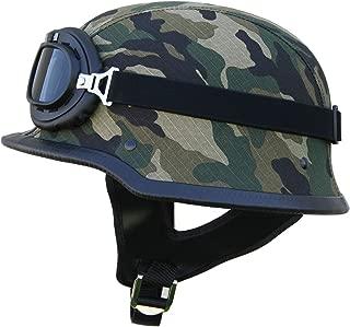 /Casque de moto Vespa Bobber style vintage avec housse en plastique et lunettes de pilote incluses bol Moto Helmets Set D22/