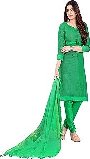 Minu salwar Cotton Printed Suit sets Green(Prehandloom_3008_0)
