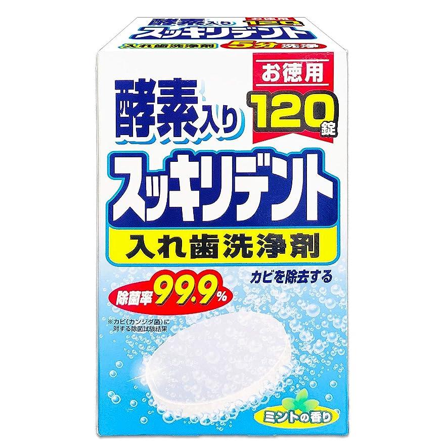 コマンド保持リングスッキリデント 入れ歯洗浄剤 総入れ歯用 酵素入り ミントの香り 120錠入