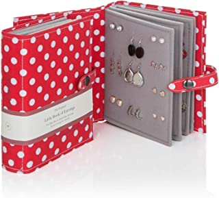 Large Size - Little Book of Earrings - A Small Book for Keeping Your Earrings Safe! (Red Polka Dot)