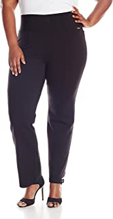Women's Plus-Size Power Stretch Wide Waist Straight Pant