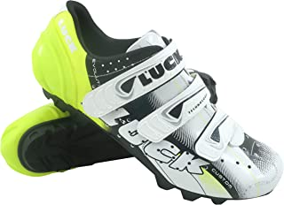 Luck Zapatillas de Ciclismo Extreme 3.0 MTB,con Suela de Carbono y Triple Tira de Velcro de sujeción