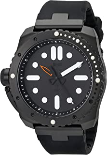 Vestal Men's RSD3S01 Restrictor Stainless Steel and Silicone Watch