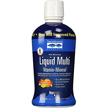 Liqumins Liquid Multi Vita-Mineral with ConcenTrace, Orange Mango, Packginag May Vary, 30 Ounce Bottle