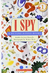 I Spy (Scholastic Reader, Level 1): 4 Picture Riddle Books Hardcover