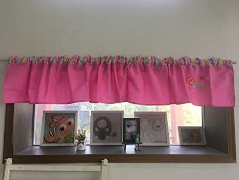 Cribmate Nursery Room Window Valance Pink Floral Window Valance Navy Blue Rocket Fire Engine Window Valance Baby Boy Girl Gift Idea Pink Amazon Ca Home Kitchen