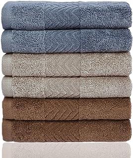 ست لباس های شستشوی پنبه Cleanbear ، پارچه های حمام لباسشویی (13 13 13 اینچ) ، 6-بسته 3 رنگ