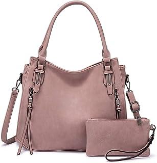 Realer Handtaschen Damen Lederimitat Umhängetasche Designer Taschen Hobo Taschen Mittel Rosa