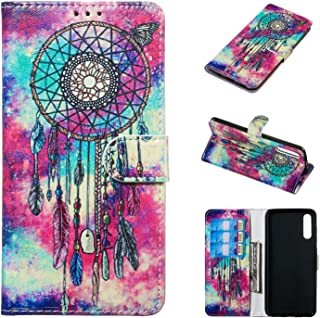 Galaxy A70 Case,DAMONDY Samsung Galaxy A70 Case,Marble Stand Wallet Purse Credit Card ID Holders Design Flip Cover TPU Soft Bumper PU Leather Magnetic for Samsung Galaxy A70 Phone (2019)-Dream