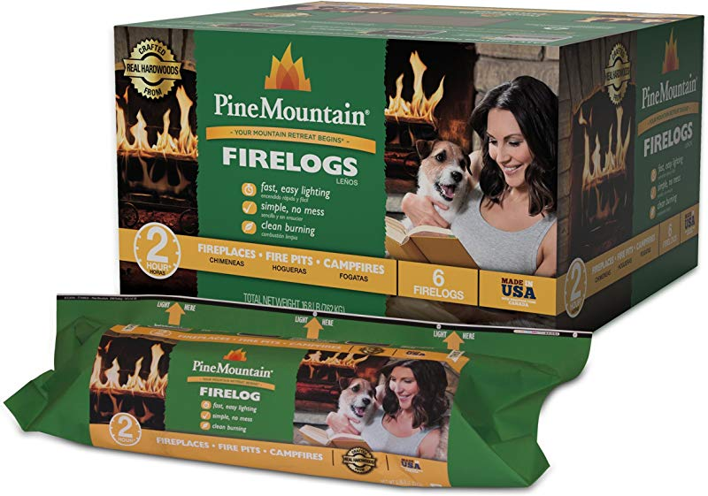 Pine Mountain 6PK 2HR Trad Fire Log 6 Firelogs 2 Hour Burn Time 6 Piece