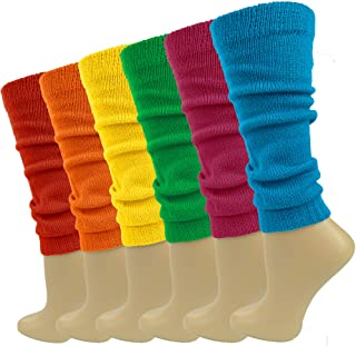 Womens Leg Warmers Knitted Boot Socks Winter Assorted 6 Pairs