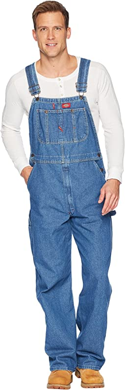 Washed Denim Bib Overalls