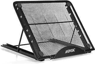 Soporte Ajustable ventilado para Portátil, Plegable y Ajustable Soporte para Laptop Ordenador Portátil Ergonómico Compacto Soporte Notebook Ventilado Ligero Laptop Stand para Macbook y Otros Portátiles (Negro)