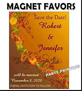 FALL AUTUMN Save the Date WEDDING FAVORS PERSONALIZED MAGNETS