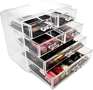 Sorbus Acrylic Cosmetics Makeup and Jewellery Storage Case Display- 2 Large and 4 Small Drawers Space- Saving, . Acrylic B...