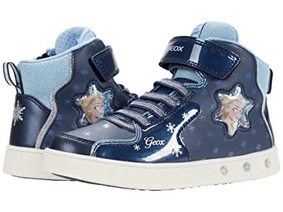 Geox Kids Skylin 7 (Little Kid/Big Kid) (Navy/Sky) Girl