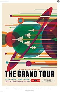 "The Grand Tour - A Voyage of a Lifetime - NASA JPL Space Tourism Travel Poster - Unframed (24"" x 36"")"