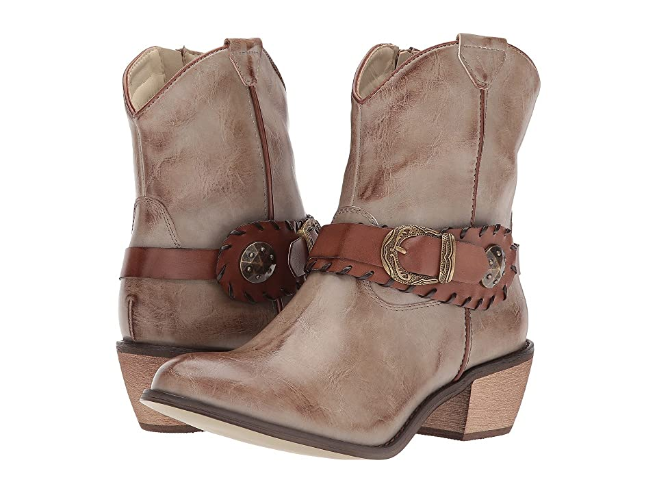 Roper Mae (Faux Tan Leather Vamp) Cowboy Boots