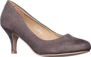 Riverberry Women's Ruby Round Toe, Kitten Low Height Pump Heels