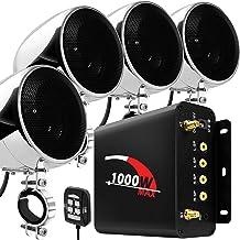 """GoHawk TN4-Q 1000W 4 Channel Amplifier 4"""" Full Range Waterproof Bluetooth Motorcycle.."""