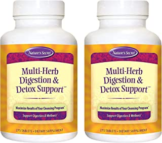 Nature's Secret Multi-Herb Digestion & Detox Support 275 Count (Pack of 2)
