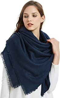 Soft Classic Luxurious Blanket Solid Color Square Scarf Wrap