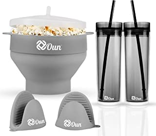 Oun Microwave Popcorn Popper Maker|BPA Free|Kitchen Collapsible Silicone Hot Air Quick Easy & Healthy Popcorn Bowl|Bonus:2...